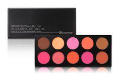 BH COSMETICS Professional Blush 10 Color Blush Palette 1199
