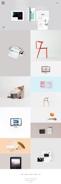 Lobo - Portfolio for Freelancers & Agencies on Web Design Served Portfolio Web Design, Web Design Tips, Site Design, App Design, Portfolio Examples, Portfolio Website, Website Layout, Web Layout, Layout Design
