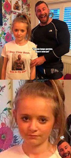 Parabéns sua filha nunca vai conseguir um namorado! :) Funny Photos, Funny Images, Funny Jokes, Hilarious, Dad Advice, Little Memes, Memes Status, English Memes, Funny Comics