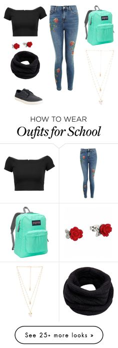 """Casual #1"" by iarafibiger on Polyvore featuring TOMS, Topshop, Alice + Olivia, Helmut Lang, JanSport and Natalie B"