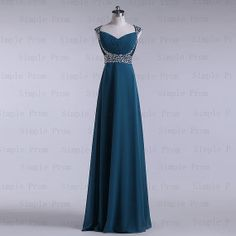 A-line Scroop Floor-length Sleeveless Green Chiffon Long Prom Dress Bridesmaid Dress Evening Dress Party Dress 2013 With Sequins