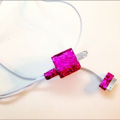 Glittery phone charger.