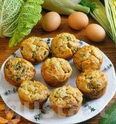Lajos Mari konyhája - Zöldséges muffin Quiche Muffins, Baked Potato, Potatoes, Baking, Vegetables, Breakfast, Ethnic Recipes, Salad, Foods