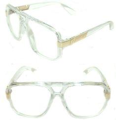 951d70fa2bf Men s Hip Hop Vintage 627 Clear Lens Transparent Clear Gold Eye Glasses  Aviator  Unbranded  HIPHOP