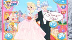 Superb Disney Princess Elsa and Anna Wedding Rush Fun Dress Up Game for Kids