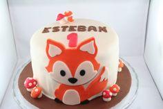 Esteban et son petit renard Tartelette, Birthday Cake, Birthday Parties, First Birthdays, Sweet, Party, Desserts, Wedding, Food