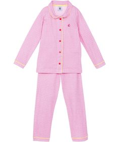 Petit Bateau lovely pink printed pyjama set with yellow details #emilea