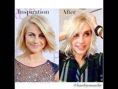 Julianne Hough Haircut Tutorial With Amy Whitcomb ||Transformation||SO CUTE