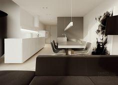 Flat interior design, soft loft, warsaw | TAMIZO ARCHITECTS