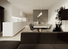 flat interior design, soft loft, warsaw.