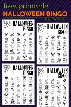 Halloween Bingo Cards, Halloween Activities For Kids, Halloween Party Games, Theme Halloween, Halloween Design, Easy Halloween, Holidays Halloween, Halloween Books, Halloween 2020