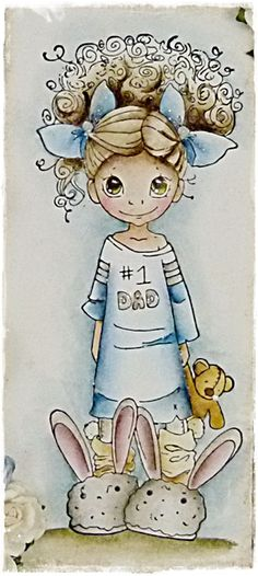 Cards By Becky: Little Darlings Rubber Stamps ~ SC Daddy's Girl ~