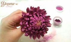 Crisantemo en pasta de azúcar / chrysanthemum gumpaste - Cake by Yolanda Cueto - Yocuna Arte en Azúcar