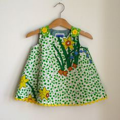 Daffodil baby girl dress  size 6  12 months  by aprilscott on Etsy, $36.00
