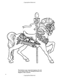 Carousel Animals Coloring Book (Dover Coloring Books): Christy Shaffer, Coloring Books, Horses: 9780486408040: Amazon.com: Books