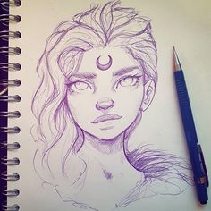 Drawing Portraits - Personnages fantastique femme Discover The Secrets Of Drawing Realistic Pencil Portraits.Let Me Show You How You Too Can Draw Realistic Pencil Portraits With My Truly Step-by-Step Guide. Cute Drawings, Drawing Sketches, Sketching, Drawing Tips, Drawing Ideas, Hard Drawings, Drawing Hair, Evvi Art, Arte Sketchbook