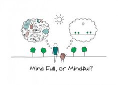 Mind Full or Mindful by Henck van Bilsen from his book, The Socks of Doom #Illustration #Cartoon #Mindfulness
