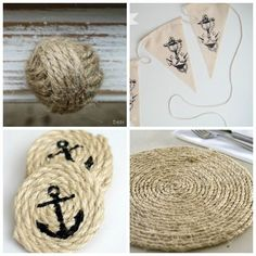 If you like Mediterranean style then you will find very interesting opportunities in DIY Mediterranean decor ideas. Nautical Bedroom, Nautical Bathrooms, Nautical Home, Nautical Interior, Vintage Nautical, Beach Crafts, Diy And Crafts, Baby Mobile, Nautical Party