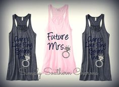 6 Bachelorette Party Tank Tops, Last Fling Before the Ring, Bridesmaid Flowy Racerback Tank Tops, Maid of Honor Shirt, Bride Tank Top on Etsy, $168.00