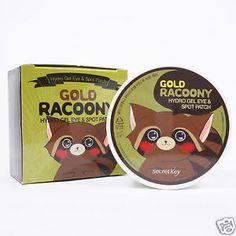 secret key - gold racoony hydro gel eye & spot patch