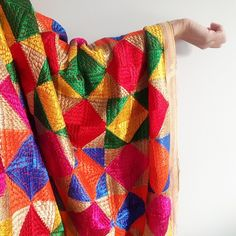 Just listed this colourful Phulkari in the shop! Wear it to the next Mehndi Ceremony you are attending to really POP!