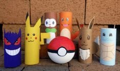 Pokemon Toilet Paper Roll Craft Check out these Pokemon toilet roll craft that . - Pokemon Toilet Paper Roll Craft Check out these Pokemon toilet roll craft that your kids can make - Easy Crafts For Kids, Summer Crafts, Crafts To Do, Projects For Kids, Diy For Kids, Diy Projects, Pokemon Birthday, Pokemon Party, Pokemon Craft