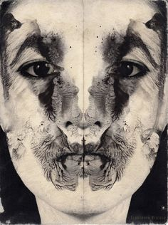 Francesco Viscuso - create a painting using the symmetry principal. explore symmetry in the human face.