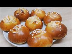 BRIOCHES INRATABLES POUR LE GOÛTER FACILE (CUISINE RAPIDE) Naan, Croissant, Pretzel Bites, Hamburger, Biscuits, Bread, Kitchenaid, Food, Food Recipes