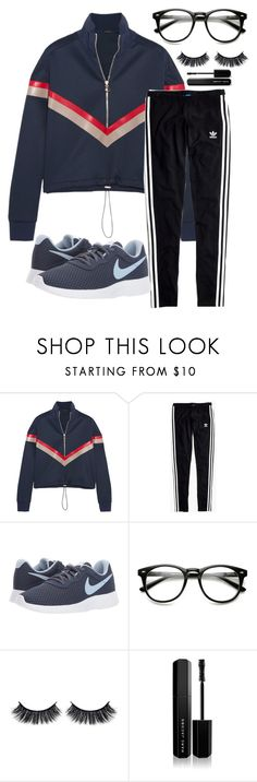 """Untitled #2650"" by mfr-mtz ❤ liked on Polyvore featuring Versace, Madewell, NIKE, Battington and Marc Jacobs"
