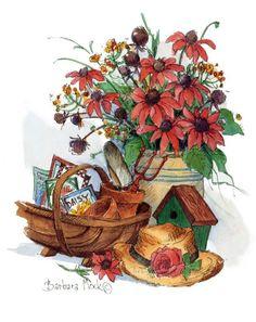 Мобильный LiveInternet Художница Barbara Mock. Часть 1. В саду цветов земных... | Akmaya - Записки Akmaya |