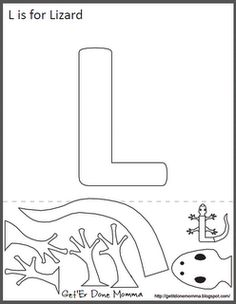 Free Animal Alphabet Crafts: L is for Lizard for a Reptile theme. lizard or el lagarto Letter L Crafts, Preschool Letter Crafts, Abc Crafts, Alphabet Crafts, Alphabet Book, Daycare Crafts, Animal Alphabet, Alphabet Activities, Preschool Activities