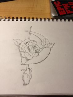 Dommin Crescent Moon Pencil Art