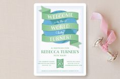 Welcome to the World Baby Shower Invitations