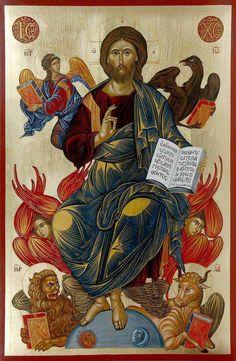 A beautiful icon of Jesus Christ.