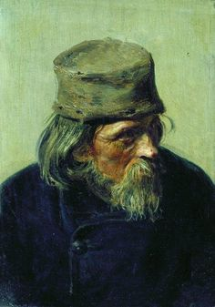 Ilya Repin, 'Seller of student works at the Academy of Arts' 1870.