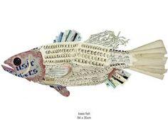 paper collage fish
