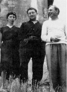 Situationists Michèle Bernstein, Guy Debord, and Asger Jorn in 1957. In this year, the Situationist International was founded, and its manifesto, Report on the Construction of Situations, was published.