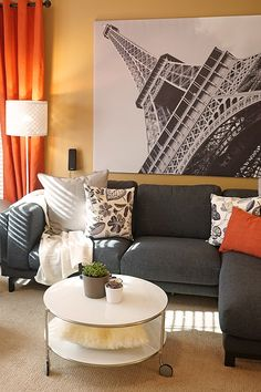The IKEA Home Tour Squad updated the living room with the NOCKEBY sofa so Johnetta and her guests can have comfortable seating.