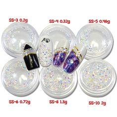 1 Şişe Glitter Beyaz AB Nail Art Rhinestones 3d Tiny Kristal Sekizgen DIY Güzellik Tırnak Aksesuarları Süslemeleri NC395