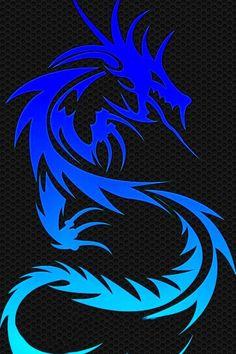 Wallpaper Iphone - Blue Dragon iPhone 5 Wallpaper More - Pintock Blue Dragon Tattoo, Tribal Dragon Tattoos, Dragon Tattoos For Men, Dragon Tattoo Designs, Dragon Wallpaper Iphone, Lion Wallpaper, Black Phone Wallpaper, Wallpaper Backgrounds, Hipster Wallpaper