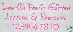 Iron-on #glitter #letters neon pink + free #hot-fix rhinestones ,  View more on the LINK: http://www.zeppy.io/product/gb/2/142050826474/