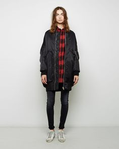 Shop on La Garconne, an online fashion retailer specializing in the elegantly understated. Long Bomber Jacket, Bomber Jackets, Zara Jackets, Outerwear Jackets, What To Wear, Casual, Shopping, Street Fashion, Diamonds