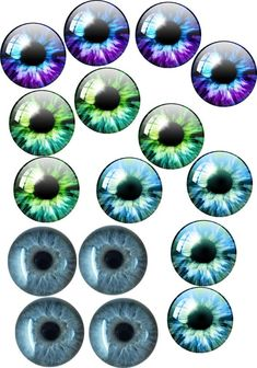 Pabol 22 MM  BLUE Glass Eyes Oval Flatback for reborns