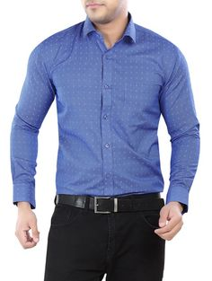Blue Formal Cotton Shirt
