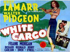 White Cargo Hedy Lamarr Walter Pidgeon 1942 Movie Poster