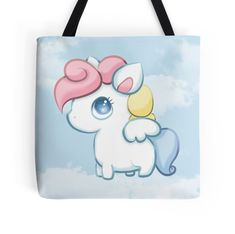 Chubby Pegasus #pegasus #magical #creature #magic #mythic #mythical #whimsical #cute #adorable #chibi #totebag #fashion #style #love #art #gifts