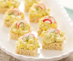 Egg Salad Tea Sandwiches Recipe │Mini egg salad sandwiches, packed with flavor, are perfect for baby showers or any gathering.