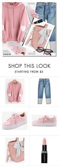 """Tried and True: Wardrobe Staples"" by svijetlana ❤ liked on Polyvore featuring Frame, Smashbox, WardrobeStaples and shein"