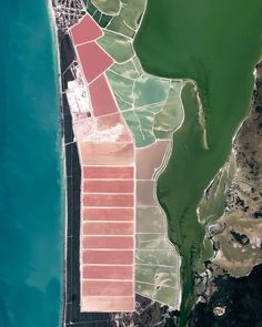 Huge sea salt evaporation ponds add color to the landscape of Las Coloradas, a community in Yucatán, Mexico. These ponds are part of an area that refines about tons of sodium each year and. Image Of The Day, Sea Salt, Mexico, Community, Table Salt, Landscape, Microorganisms, Water, Ponds