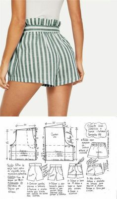 Modest fashion 721842646512564093 - Summer super fashion shorts sewing design Source by laureannelddidier Fashion Sewing, Diy Fashion, Ideias Fashion, Fashion Outfits, Fashion Shorts, Moda Fashion, Fashion Ideas, Vintage Fashion, Sewing Shorts